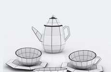 Spider-Inspired Tea Sets - The Baita Design Tea Set is a Paned Porcelain Creation