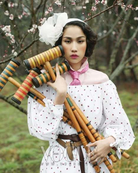Romantic Sport Fashion - Vogue Korea Takes it Back to the '50s