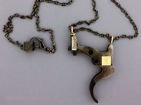 Upcycled Weapon Necklaces - B-Side Jewelry's Gun Reclamation Project