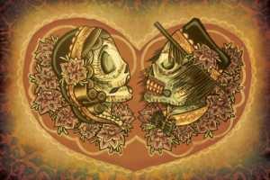 The Dia de los Muertos Invitiations Set an Awesome Mood