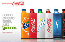 Organic Soda Bottles - The Eco Coke Concept Has a Sweet Spot for the Environment