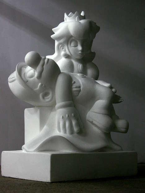 Religious Gamer Recreations - Kordian Lewandowskiego's 'Game Over' is Inspired by La Pieta