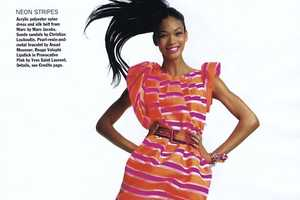 Chanel Iman Leaps in 'Short Story' for Allure April 2010