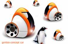 Penguin-Inspired Autos - The Gentoo Concept Car is Like an Egg on Wheels