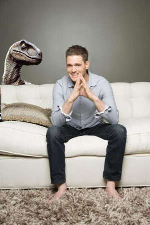 Michael Buble Being Stalked by a Velociraptor