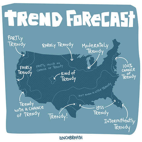 Trend Forecast Maps - Geography by Innovation is Better Than the Weather Network