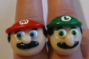 The Mario Bros. Rings Would Make Great Wedding Bands
