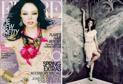 coco rocha covers flare canada april 2010