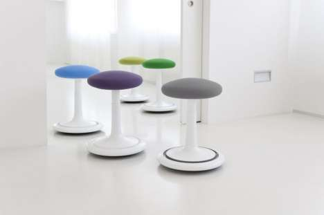 Spool-Like Stools - The ONGO Seat Combines Furniture with Exercise Equipment