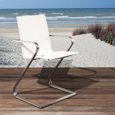 Snaking Stainless Steel Seats - Z-Chair for Joli by Tom De Vrieze