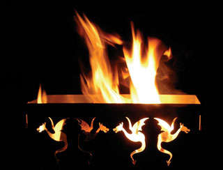 Fire-Breathing Dragon Accessories - The Dragon Firepit by Kodjo Kouwenhoven