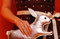 The Orwell Clutch Silver Rabbit Purse by Tsuru Bride