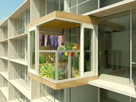 Strap-On Porches - The Plant Room Gives Apartment Dwellers a Shot at Having a Shed