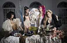 Decadent Round Tabletography - Set Designer Susana De la Cueva Shows 'Candela L'Amour