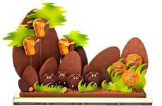 Chocolate Safaris - La Maison du Chocolat African Savannah Scene Looks Too Good to Eat