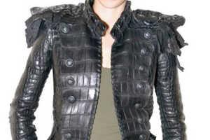 Jaw-Dropping Balmain Leather Jacket Isn't for PETA Members