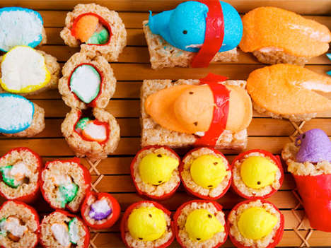 Sweet Easter Sushi - Peeps Sushi Will Surely Induce a Sugar Coma