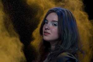 'Consuming Ashes' by Gabriel Vieira Kolisch Covers a Model in Clouds