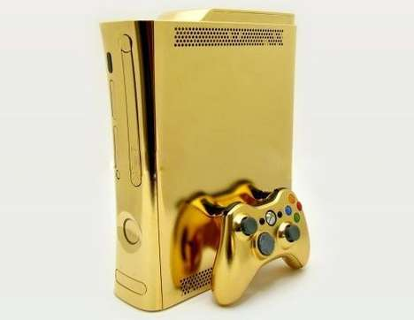Solid Gold Gaming Systems - The 24kt Xbox 360 Will Truly Make You a King Among Geeks