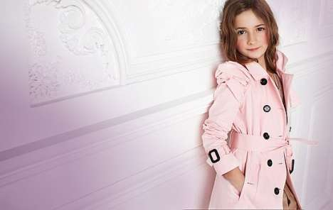 Adorable Mini Couture - Burberry Prorsum's Spring Looks Get Shrunk