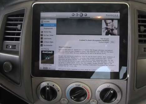iPad Dashboards - SoundMan Car Audio Makes a Toyota Tacoma a Flashier Ride