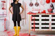 Red Splattered Kitchens