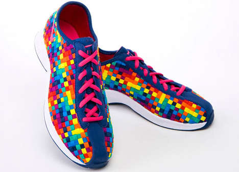 Pixelated Rainbow Kicks - The Nike Air Superfly Woven Make Walking Vibrant