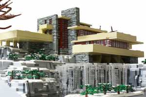 The LEGO Fallingwater is F.L. Wright's Famous Home, Only Better
