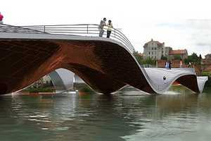 The Maribor Footbridge by Ja Studio & Tadj-Farzin Studio