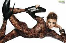 Vampy Animal Print Catsuits - 'Go Wild' in V Magazine Spain April 2010 is Smoldering