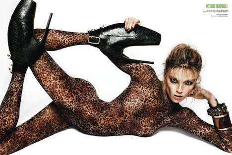 Vampy Animal Print Catsuits