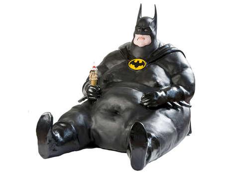 Obese Batman Icons - Artist Franceso de Molfetta's 'New Idols' Series