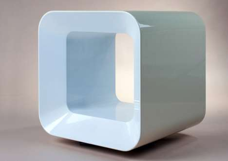 Qbiosk Coffee Bedside Table