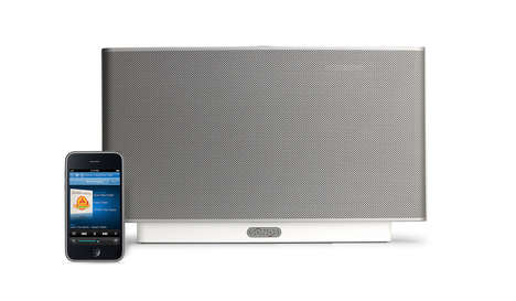 Wireless S5 streams web-based music throughout the home with iPhone