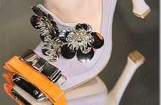 Bow Tie Floral Pumps