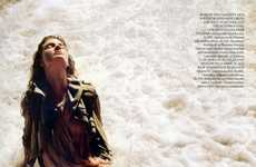 Sandy Sheer Fashiontography - Constance Jablonski Goes 'From Sheer to Eternity' in Vogue UK