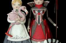 Contemporary Folk Art Dolls - Alice in Wonderland Dolls by Cart Before the Horse Etsy Shop