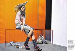 Richard Burbridge Vogue Italia Editorial Features a Rainbow of Mixed Fashions