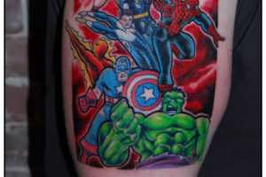 These Superhero Tattoos Look Poised to Fight Crime