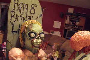 The Zombie Girl with Brain Cake Makes Death Delicious