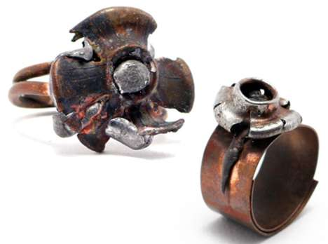 Upcycled Amo Rings - Adi Zaffran Weisler Crafts Rings From Bullet Fragments