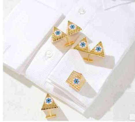 Pyramid Cuff Links - You Are Not Alone Jewelry