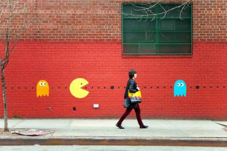 Pac Man Street Art - Katie Sokoler Livens up the Streets With Pacman