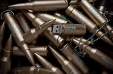 Warfare Flash Drives - The Crooks & Castles Bullet USB Takes Aim at Novelty PC Accessory Market