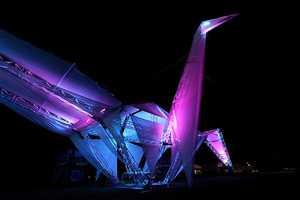 The Coachella Music Festival Celebrates With Solar Crane