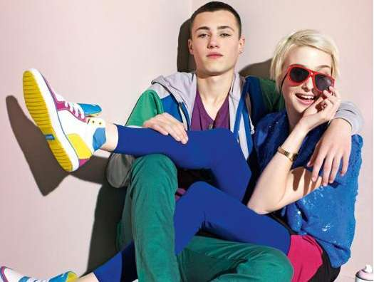 Colorblocked Shoe Campaigns
