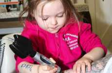 Three-Year-Old Ruby Dickinson is the World's Youngest Tattoo Artist