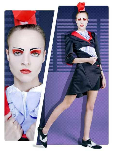 Geometric Eye Makeup - Farzan Esfahani Autumn/Winter Collection Takes a Pop Art Spin on Fashion