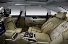 Super-Spacious Luxury Sedans - 2011 Audi A8 L W12 Quattro Has Power-Adjustable Rear Seats