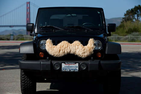 Mustached Mobiles - Carstache Gives Your Car Facial Hair